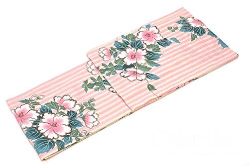 踏みつけスーダン寛容(オオシマユウコ)OsimaUco 浴衣 レディース浴衣 単品 ピンク クリーム 芙蓉 フヨウ
