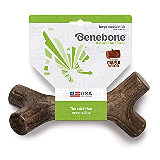 Benebone Maplestick Real Wood Durable Dog Chew Toy, Made in USA, Large
