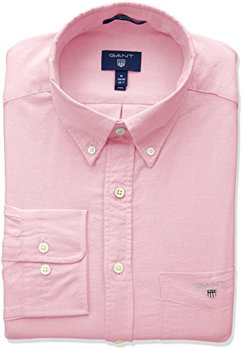 Reg Camicia Uomo 662 Shirt Pink Rosso Bd The light Gant Oxford qw1Fgnt