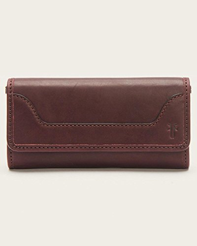 Frye Women's Melissa Zip Wallet Wine One Size by FRYE