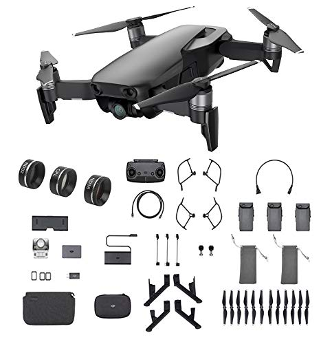 DJI Mavic Air Fly More Combo, Onyx Black (2018 Version), 3-Filter Set, Landing Gear and More (Black)