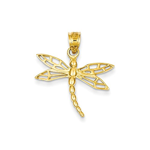 FB Jewels Solid 14K Yellow Gold DragoNFLy Charm