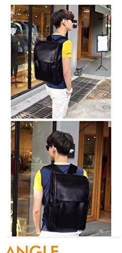 School Coffee Backpack Bag Bag Rucksack Men Leather Men's Vintage Blue Style College Preppy Color Escolar Travel 6w8q5Yq