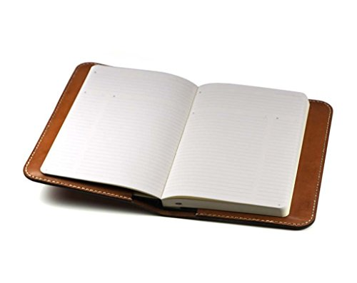 Leather Cover for Moleskine Classic Notebook 5 x 8.25 by Hand and Hide