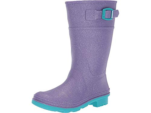 Kamik Girls' Glitzy Rain Boot, Purple, 5 M US Big Kid