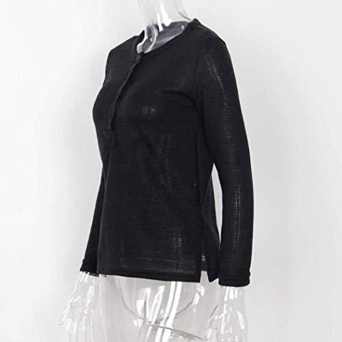 Primaverile Top Chic Tempo Donna Ragazza Maglioni Libero Monocromo Lunghe Pullover Autunno Leggero Baggy Felpe Schwarz Maniche Moda Eleganti Shirts C5cBHdq