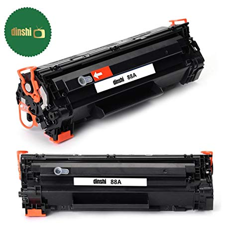 Dinshi 88A Easy Refill Toner for HP 88A/388A Refillable Black Toner Cartridge for HP Laserjet