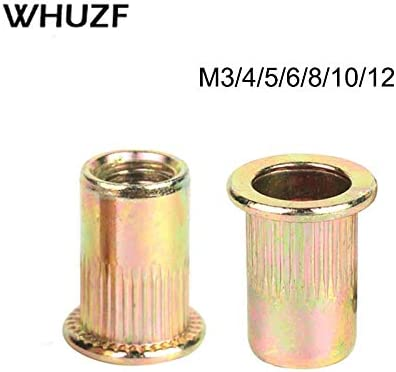 YY-CX 10//20Pcs M3 M4 M5 M6 M8 High Quality Carbon Steel Rivet MIX Hollow Rivets Zinc Plated Threaded Rivets Hardware Fasteners Tool Stem Length : M10 10PCS