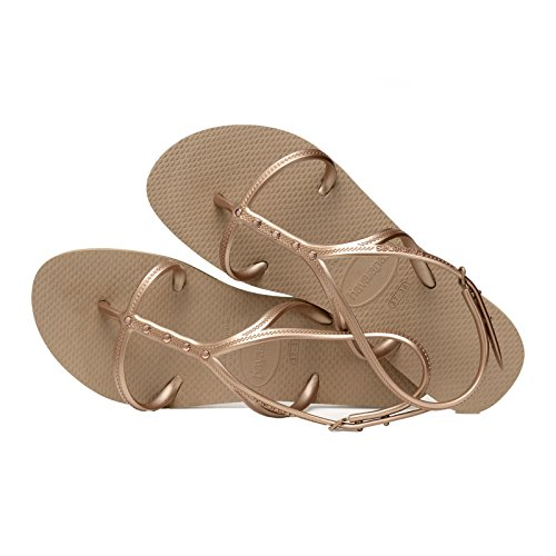 Havaianas Allure Maxi Sandals Metallic Beige 1bRNMIQqBS