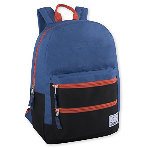 Trailmaker Multi-Color Backpack For Boys & Men With Padded Straps (Blue)