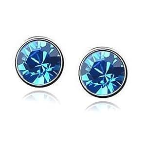 Sweet Style Czech Rhinestone Crystal Stud Earrings - Rose