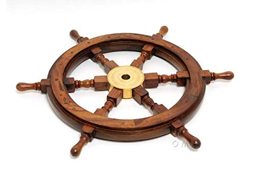 Planejunkie Marine Art - Ship Wheel-36 inches