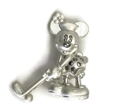 Furniture Cabinet Knob Cartoon Minnie Mouse No.2, Satin Chrome 2