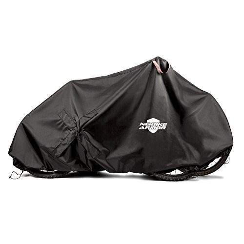 Dual Bike Storage (Bicycle Cover for Outdoor Bike Storage: Waterproof Bike Covers for 1 or 2 Bikes - Lockable Weather Protector for Mountain & Road Bikes - Large & XL (Black - X-LARGE))