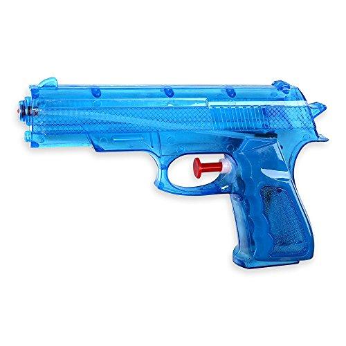 S/O® Wasserpistole Klassiker ca. 17cm in 3 Farben wählbar Wasserpistolen Wasser Pistole Water Gun Watergun , Farbe:blau