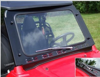 RZR Laminated Safety Glass Windshield with Wiper Emp 10505 by Extreme Metal Products