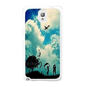 Custom Design Nature Landscape Sky Clouds Print Samsung Galaxy Note 3 N9005 Love Kissing Hard Plastic Phone Case Cover Skin