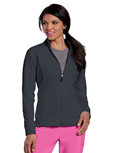 Landau Urbane Performance 9872 Women's Empower P-Tech Warm-up Scrub Jacket Graphite L