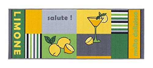 Küchenläufer rutschfest, waschbar, Läufer, Oeko-Tex 100, Küchenteppich, div Motive in 3 Größen (Zitrone, 57x120cm)
