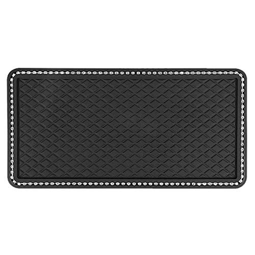 Antiskid Mat Sunglasses Non-Slip mat for Cell Phone Keys,Electronic Devices and More-X-Large-Black Sticky Car Dashboard Mat Premium Anti-Slip Gel