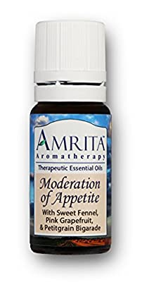 Moderation Of Appetite Synergy Blend (Natural Appetite Control) with Essential Oils of Sweet Fennel, Pink Grapefruit & Petitgrain Bigarade - SIZE: 10ML
