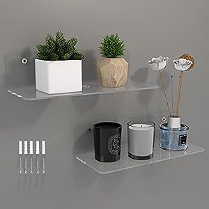 acrylic bathroom wall shelves