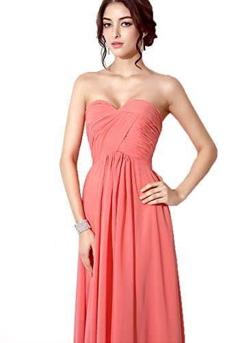 Gown House Long red Chiffon Prom Sd182 Beaded Women's Celebrity strapless Evening Dresses Belle RqndzAwFz