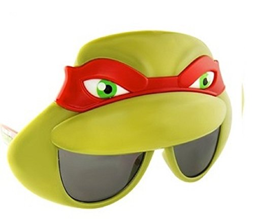 Sunstaches Officially Licensed TMNT Mask Sunglasses, Red - Hollywood Ninja Turtle Costumes