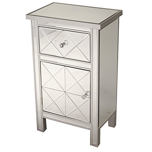 Heather Ann Creations Traditional Accent Console with Front Beveled Mirrored Finish, 32.7