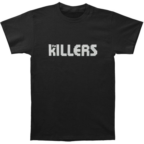 Killers Men's White Logo Slim Fit T-shirt Small Black