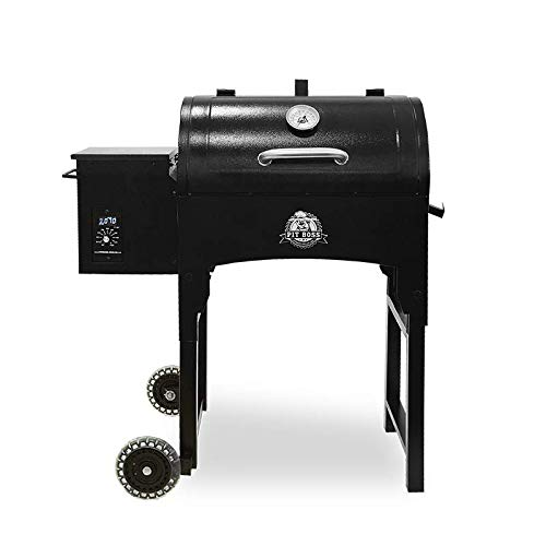 Pit Boss Grills PB440TG Pit Boss 440 sq in Portable Wood Folding Legs Pellet Grill, Black by Pit Boss Grills