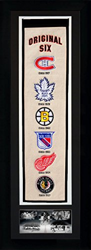 NHL 'Original Six' Legends Never Die Team Heritage Banner with Photo, Team Colors, 15