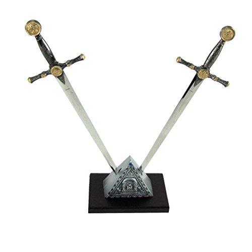 Masonic Dual Dagger Sword Shaped Letter Opener Desk (Shaped Letter Opener)