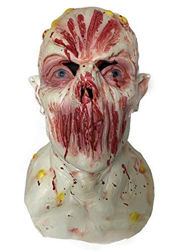 ZhangHD Walking Dead Full Head Mask, Resident Evil Monster Mask, Zombie Costume Party Rubber Latex Mask for Halloween (Walking Dead F)
