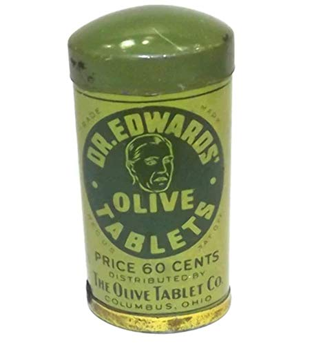 Vintage Dr. Edwards Olive Tablets Laxative Pills Medicine Advertising Tin