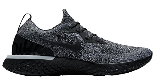 Epic WMNS Flyknit White Black React Femme Basses Sneakers 011 Noir Black Nike C5xwdtpC