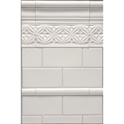 White 4×8 Artisan Handmade look , Subway Tile, Undulated tile, Backsplash, Wall tile, (Sample)