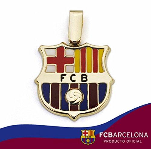 Pendentif bouclier F.C. Barcelona or 18k loi émaillé 20mm [AA1903] - Modèle: 10-012-LG