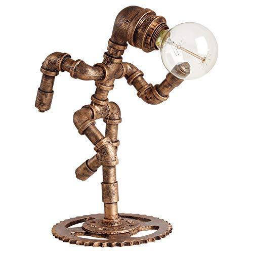 Lámpara de escritorio Industrial Retro Creativo DIY Ejecutar Robot ...