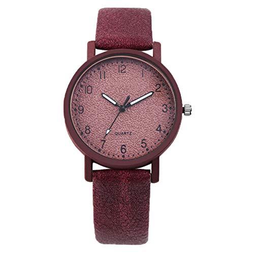 FANRENYOU Women Bracelet Clock Dress Wristwatch Luxury Feminino red
