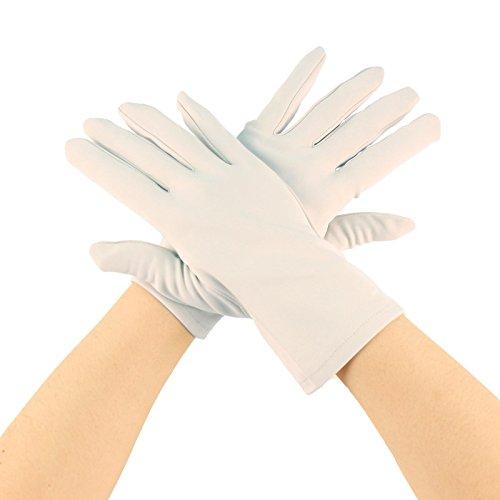 Matte Nylon Stretchy Wrist Length Plain Blank Thin Gloves Dress 1 Pair X-Large Lilac