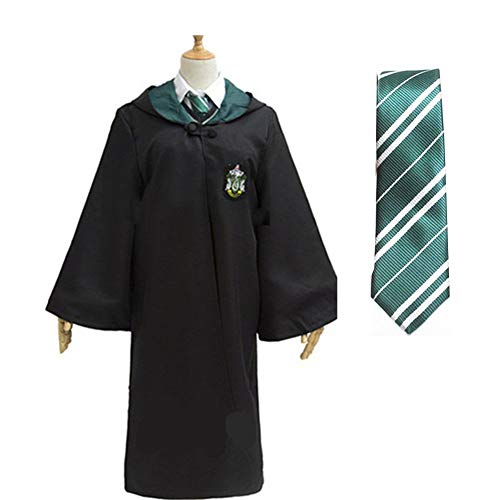 BestBang Halloween Cloak, Magic Robe Cloak, Cosplay Costume Uniforms (M, Green) -
