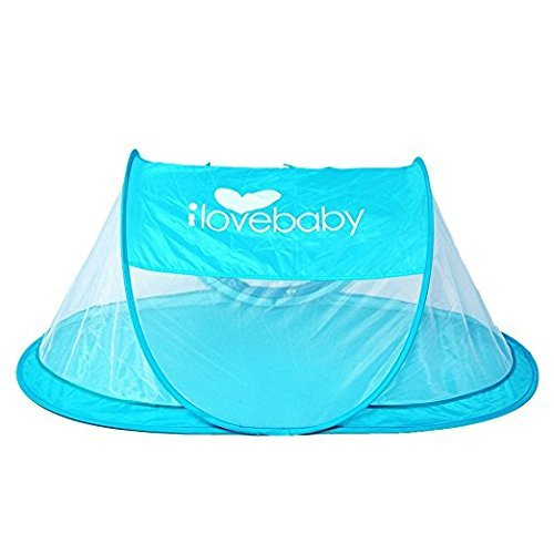 Instant Portable Travel Baby Tent, Pop Up Beach Tent for Kids, Blue