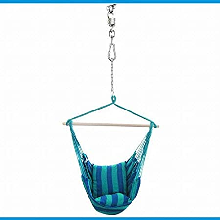Swivel Hook FLY HAWK Hammock Chair Ultimate Hanging Kit Stainless Steel 1000 LB Capacity Hammock Spring and Ceiling Hammock Mount with 5 Stainless mounting Screws