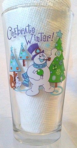 - Frosty the Snowman Pint Glass, Frosty the Snowman CELEBRATE WINTER Glass, Frosty the Snowman Beer Glass