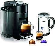 Nespresso A+GCC1-US-BK-NE VertuoLine Evoluo Deluxe Coffee & Espresso Maker with Aeroccino Plus Milk Frothe