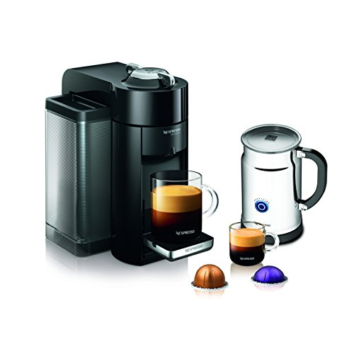 Nespresso A+GCC1-US-BK-NE VertuoLine Evoluo Deluxe Coffee & Espresso Maker with Aeroccino Plus Milk Frother, Black (Discontinued Model) -