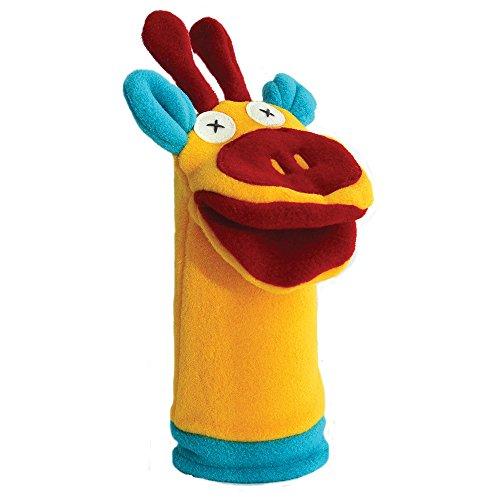 Cate and Levi 12″ Handmade Softy Giraffe Hand Puppet (100% USA Polar Fleece)