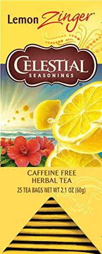 Celestial Seasonings Lemon Tea - Celestial Seasonings Herbal Tea, Lemon Zinger, 25 Count Box