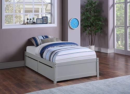 POCATOY Wood Platform Twin Bed